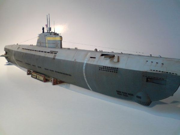 submarine type xxi u 3504 scale model
