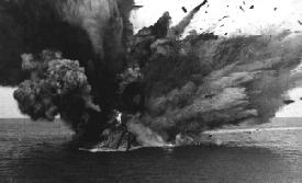 Magazine explodes on the HMS Barham