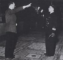 Prien receiving his Knight's Cross for the Scapa Flow raid