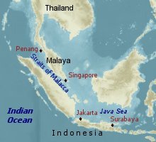 Location of U-boat bases in the Far East