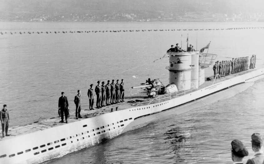 U-251, a Type VIIC returns to Narvik after an Atlantic patrol, June 1942. The Type...