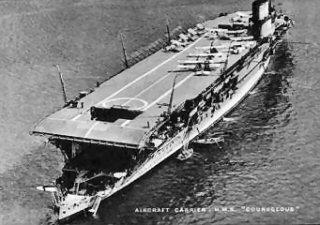 British aircraft carrier, HMS Courageous.