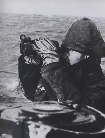 A watch crew on lookout in the Atlantic.