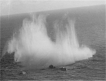 One of the last photos off the U-507 attacked by plane in Brazilian Coast. This boat...