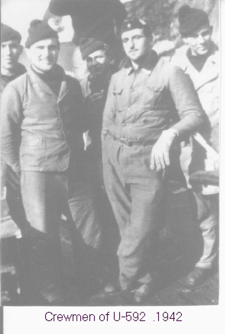 Crewmen of the U-592. With thanks to Gerard Walker.