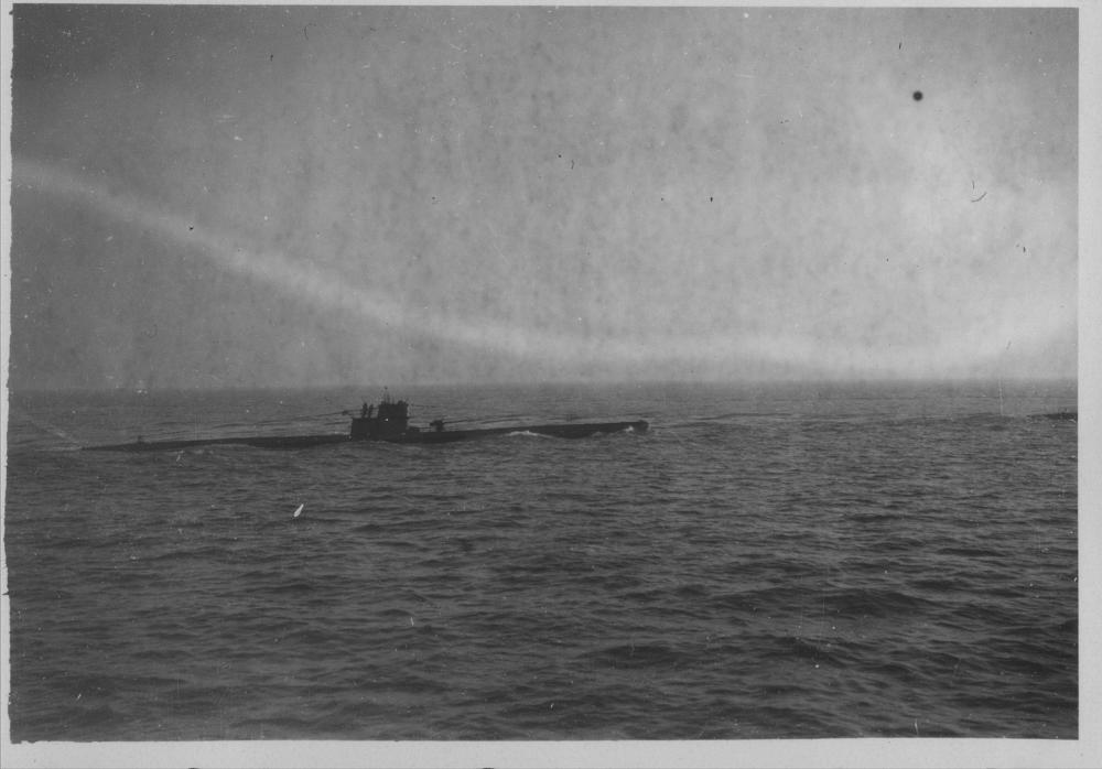 An unknown U-boat somewhere in the Bay of Biskaya. Photos were taken end of 1942...