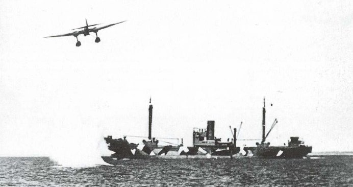 HE-115 ATTACK MERCHANT SHIP IN THE CHANNEL,JULY 1940.