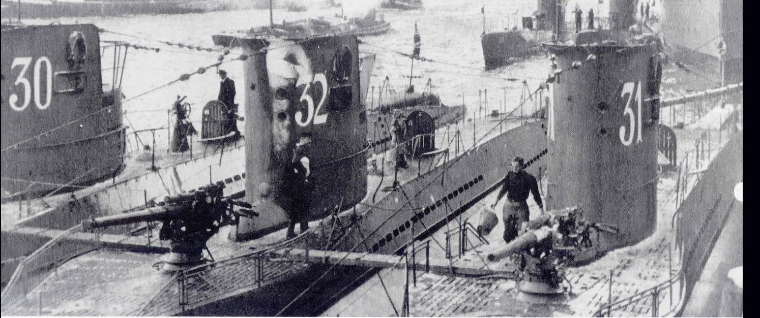 U-30, U-31, U-32 early Type VIIA u-boats.