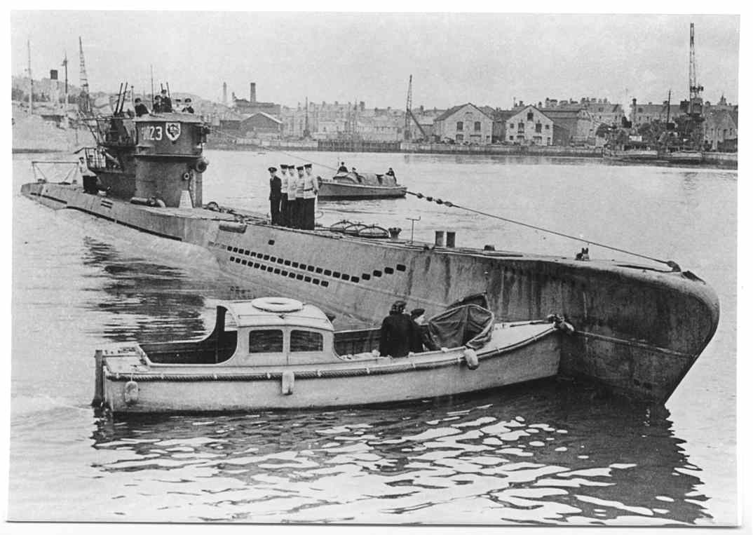 U-1023 at Plymouth. Type VIIC