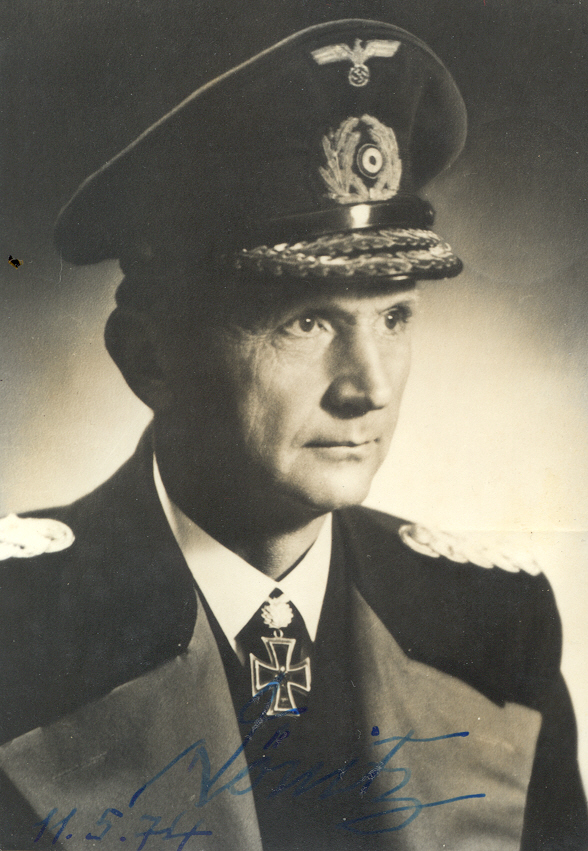 Admiral Doenitz (autographed)- This is photo the Admiral sent me in response to a...