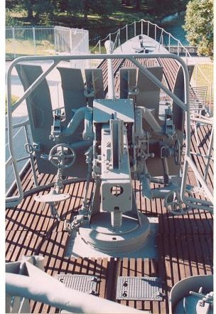 Inside coning tower