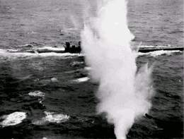 Image result for aircraft attacking uboat